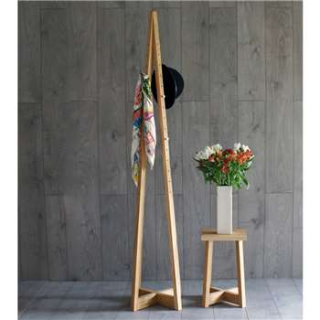 Avenir Coat Stand Solid Oak (180 x 36cm)