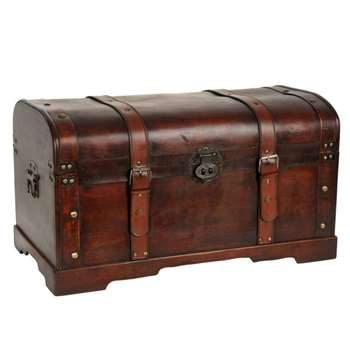 AVENTURIER wooden storage chest (38 x 67cm)