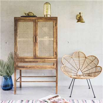 Avery Wooden Webbed Cabinet (H160 x W90 x D45cm)