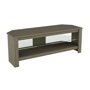 AVF Calibre Up to 55 Inch TV Stand - Grey Wood Effect with Glass Shelf (H41 x W115 x D40cm)