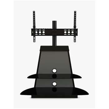 AVF Shore TV Stand with Mount for TVs 37 to 65, Black & Grey (H63.3 x W97 x D14cm)