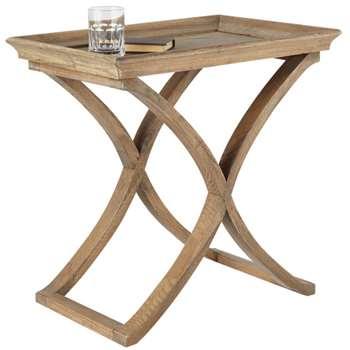 Avignon Weathered Oak Side Table - Wood (60 x 60cm)