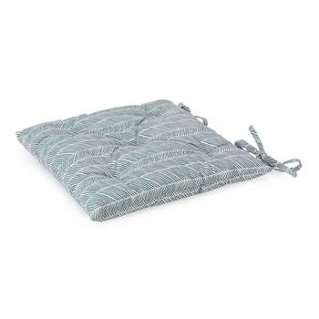 Avola Chair Cushion, Green Grey Natural White (H40 x W40 x D7cm)