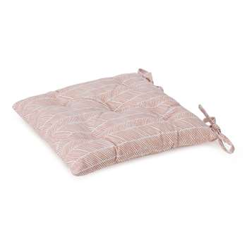 Avola Chair Cushion, Papaya Natural White (H40 x W40 x D7cm)