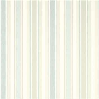 Awning Stripe Pistachio/ Duck Egg Wallpaper