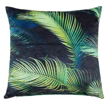 AYAHUESCA Tropical Print Midnight Blue Cushion Cover (H40 x W40cm)