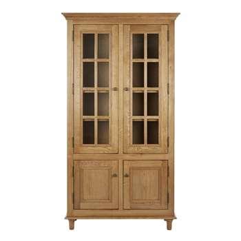 Aylesbury Vintage Oak 2 Door 2 Drawer Display Cabinet (175 x 95cm)
