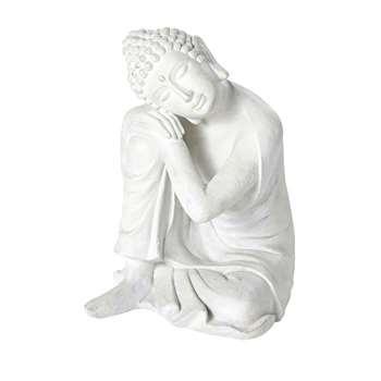 AYO - Aged Effect Ecru Buddha Ornament (H60 x W51 x D46cm)