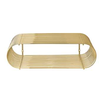 AYTM - Curva Shelf - Gold (H12 x W40.5 x D25cm)