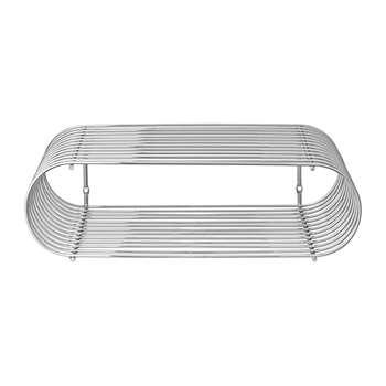 AYTM - Curva Shelf - Silver (H12 x W40.5 x D25cm)