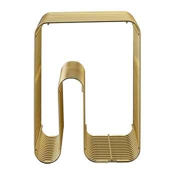 AYTM - Curva Stool - Gold (H43 x W32.5 x D32.5cm)