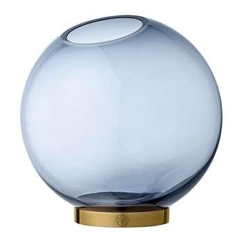 AYTM - Globe Vase - Navy & Gold - Large (H21 x W21 x D21cm)