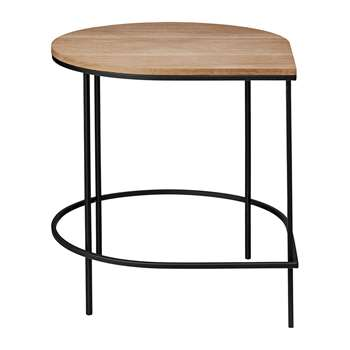 AYTM - Stilla Coffee Table - Oak/Black Iron (H48.5 x W50 x D60cm)