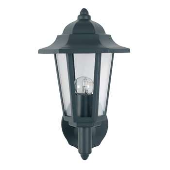Azalea Outdoor Lantern Wall Light Grey (H34 x W17.6 x D20.5cm)