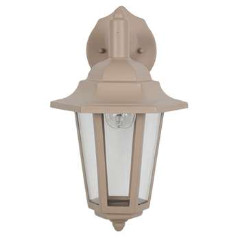 Azalea Outdoor Wall Light Taupe - Downlight (H34 x W17.6 x D20.5cm)
