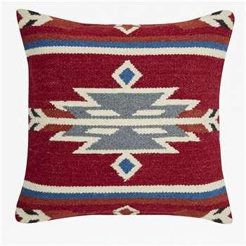 Aztec Colour Cushion - Red (45 x 45cm)