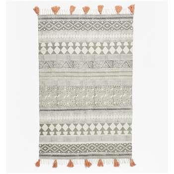 Aztec Geo Rug - Grey (120 x 180cm)
