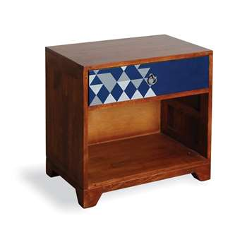 Aztec Vintage Side Table in Navy Blue 60 x 60cm