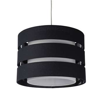 Baako Pendant Light Shade 35cm Black (H25 x W35 x D35cm)