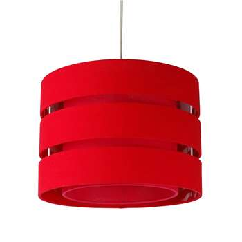 Baako Pendant Light Shade 35cm Red (H25 x W35 x D35cm)