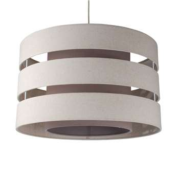 Baako Pendant Light Shade 50cm Cream (H29.5 x W50 x D50cm)