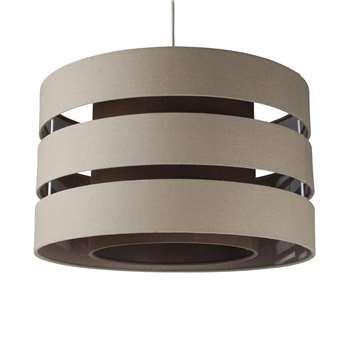Baako Pendant Light Shade 50cm Mocha (H295 x W50 x D50cm)