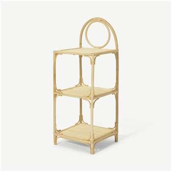 Babbo Freestanding Shelves, Natural Rattan (H66 x W23 x D37cm)
