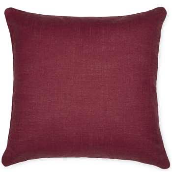 Bacall Cranberry Cushion (40 x 40cm)