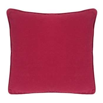 Bacall Cranberry Cushion (H43 x W43cm)
