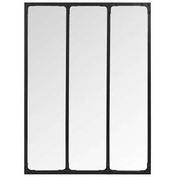 BAGEL - Metal Triple Mirror in Black (H80 x W60 x D2cm)