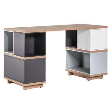 Balance Modular Desk in White and Grey (Width 138cm)