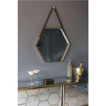 Balard Wall Mirror Brass (85 x 52.5cm)
