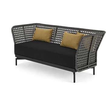 Balawa Garden 3 Seater Sofa, Grey (H79 x W190 x D75cm)