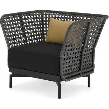 Balawa Garden Armchair, Grey (H79 x W100 x D75cm)
