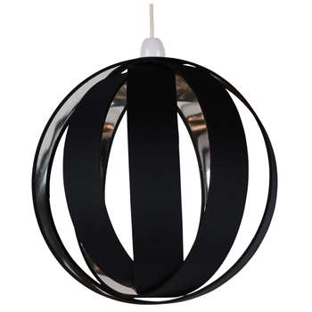 Bale Pendant Light Shade Black (H30 x W30 x D30cm)