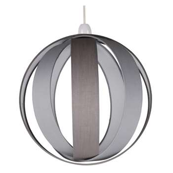 Bale Pendant Light Shade Grey (H30 x W30 x D30cm)