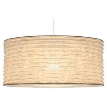 Bali Fabric Pendant Light Shade 35cm (H20 x W35 x D35cm)