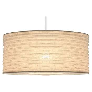 Bali Fabric Pendant Light Shade 50cm (H25 x W50 x D50cm)