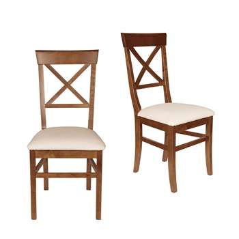 Balmoral Cherry Pair Of Dining Chairs (H98 x W46 x D52cm)