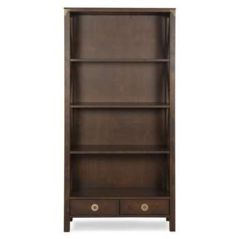 Balmoral Chestnut 2 Drawer Bookcase (176 x 90cm)