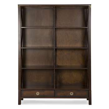 Balmoral Chestnut Double Bookcase (176 x 131cm)