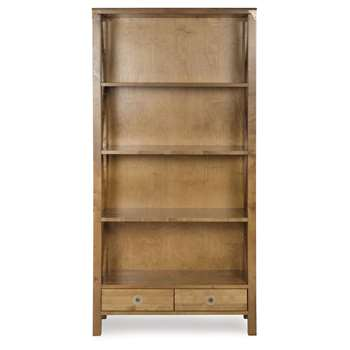 Balmoral Honey 2 Drawer Bookcase (176 x 90cm)