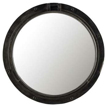 BALTIC Metal Mirror in Black (H74 x W74 x D8.5cm)