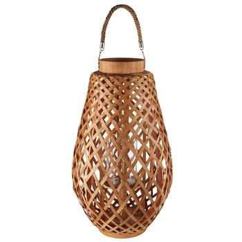 Bamboo and cord lantern ZANZIBAR (56 x 32cm)