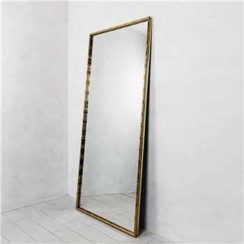 Bamboo Frame Wall Mirror (H180 x W80 x D3cm)