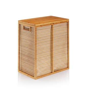 Bamboo Laundry Bin, Natural