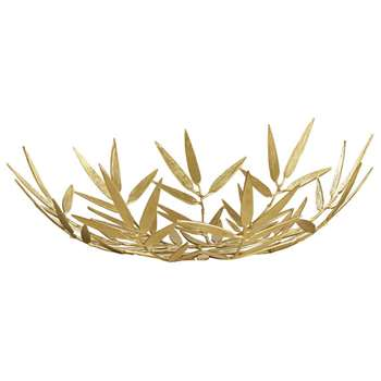 Bamboo Leaf Bowl - Brass (19 x 54cm)