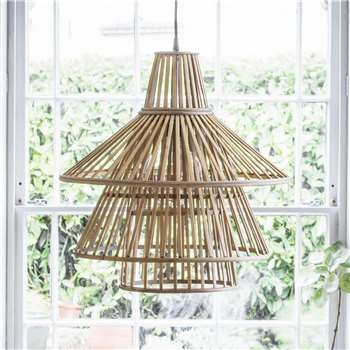 Bamboo Pendant Shade (H51 x W49 x D49cm)