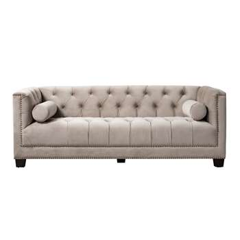 Bankes Three Seat Sofa – Taupe (H73 x W200 x D85cm)