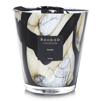 Baobab Collection - Stones Marble Scented Candle - Limited Edition (Height 16cm)